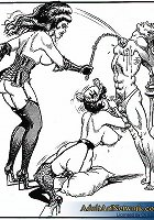 Ropes and torture devices are used in this series of bondage toon porn. See guys submit their female sex masters as they are forced and subjected to e